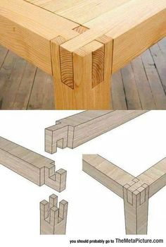 Cool table joints