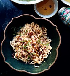 Sesame Noodles with Chili Oil and Scallions