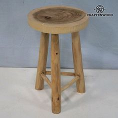 Sem wooden stool by Craftenwood58,83 €