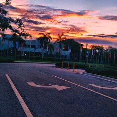 Check out the sunset that was over our campus this evening! Pretty amazing if you ask us! #Campus #College #SoFlo #Sunset #BocaRaton #Summer