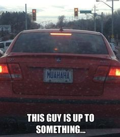 'This guy definitely up to something...' Check out 10 seriously hilarious vanity plates. Click to be amazed! #lol #spon