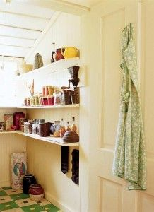 A simple country pantry in the house of author Marjorie Kinnan Rawlings in Florida. © Gross + Daley [as featured in the book THE PANTRY–Its History and Modern Uses, Gibbs Smith, 2007, available exclusively at www.CatherinePond.com or www.InthePantry.blogspot.com