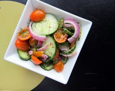Cucumber Tomato Salad with Fresh Dill