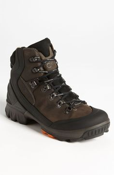 ECCO 'Biom Hike' Hiking Boot (Men) Black/ Tarmac 40 EU  Tough, waterproof materials structure a protective Gore-Tex-lined hiking boot set on a sole designed for a comfortable stride and maximum traction on rough terrain. Color(s): black/ tarmac.