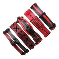 Buy Leather Bracelet Men Bracelet Punk Braided Bangle Surfer Jewelry at Wish - Shopping Made Fun Leather Charm Bracelets, Black Leather Bracelet, Bracelets For Men, Bangle Bracelets, Silicone Bracelets, Braided Bracelets, Fashion Bracelets, Bangles, Studio Background Images