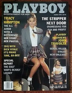 Playboy March 1996 Gift Present Original Vintage Glamour Magazine Tracy Hampton cover Playboy Enterprises, Penthouses Magazine, Playboy Bunny, Playboy Playmates, Glamour Magazine, Male Magazine, Thing 1, Vintage Magazines, Pent House