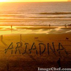 Nombre Ariadna / Name Ariadna / Ariadna / nombre / name / playa / beach / atardecer en la playa