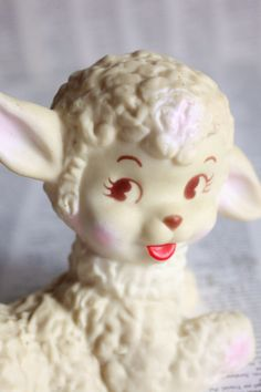 Vintage Squeaky Toy 1950's Little Lamb  too by ProfessorWoodruff, $15.99