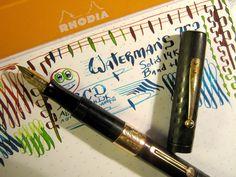 Waterman 752 Solid Gold Lever & Band Flex Fountain Pen vtg 14k Ideal Nib BCHR 52 #Waterman