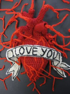 Between the February an East London location will be playing host to a romantic pop up with a twist; Crochet Doily Rug, Crochet Crafts, Crochet Projects, Crochet Patterns, Crochet Art, Irish Crochet, Stitch Witchery, Knitted Heart, Eat Your Heart Out