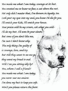 American Staffordshire Terrier Poem and Drawing ♥