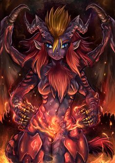 Teostra-chan by Maxa-art