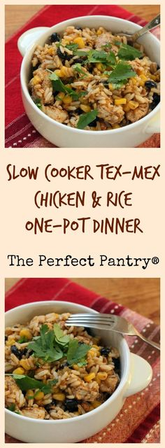 ... your crockpot: Tex-Mex chicken and rice with corn and black beans