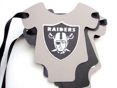 Football Team Onesie Banner  inspired on Raiders by Mariapalito, $24.00