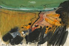 Barbara Rae sketchbooks to inspire - Alice Sheridan Watercolor Landscape, Abstract Landscape, Landscape Paintings, Abstract Art, Art Paintings, Watercolour, Landscapes, Travel Sketchbook, Artist Sketchbook