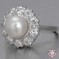 Vintage Pearl Diamond Ring ... Really need this!