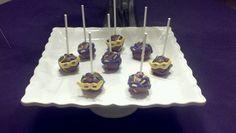 Mardi gras cakepops