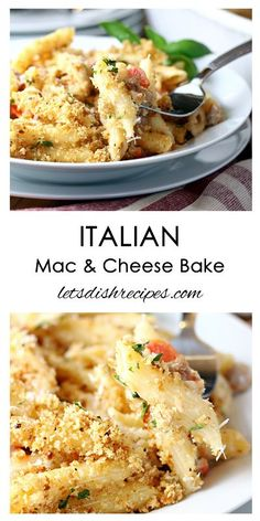 Italian Mac and Cheese Bake Recipe | This hearty pasta and sausage dish will satisfy your . hungry family. And with staples from your pantry, it can be made for about $10.
