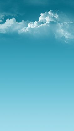 Smooth Blue Clouds iPhone5 Wallpaper (640x1136)