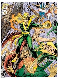 Iron Fist (Marvel) by Byrne Marvel Comic Universe, Marvel Comics Art, Marvel Heroes, Marvel Characters, Cartoon Characters, Comic Book Artists, Comic Artist, Comic Books Art, Iron Fist Marvel