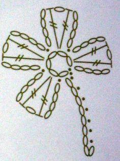Un Autre Porte-Manteau - Her Crochet - Diy Crafts Crochet Russe, Marque-pages Au Crochet, Russian Crochet, Crochet Motifs, Crochet Diagram, Crochet Squares, Irish Crochet, Crochet Chart, Crochet Appliques
