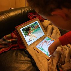 Gruff drawing his new favourite hero #moana