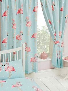 Fifi Flamingo 54 Lined Curtains