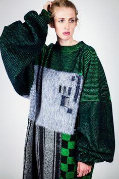 green knitwear
