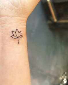 Tattoos Lotus flower semicolon tattoo