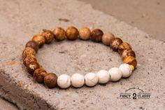 New Bracelet From Fancy2Classy! Check It Out Know!! Link Below!!! Sahara: Sand White Gold Bracelet Stretch Women by Vintage2Classy