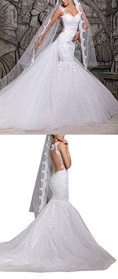 Dreamdress White Long Wedding Veils Applique Edge Tulle Bridal Veil (Ivory)