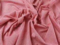 Gingham Check Cotton Seersucker Dress Fabric Red | Fabric | Dress Fabrics | Minerva Crafts