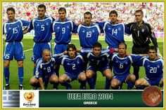 Greece team group at the 2004 European Championships.