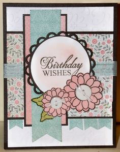 Birthday card by JoAnn using Verve Stamps.
