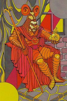 IV. The Emperor  - Tarot of the Sephiroth by Dan Staroff