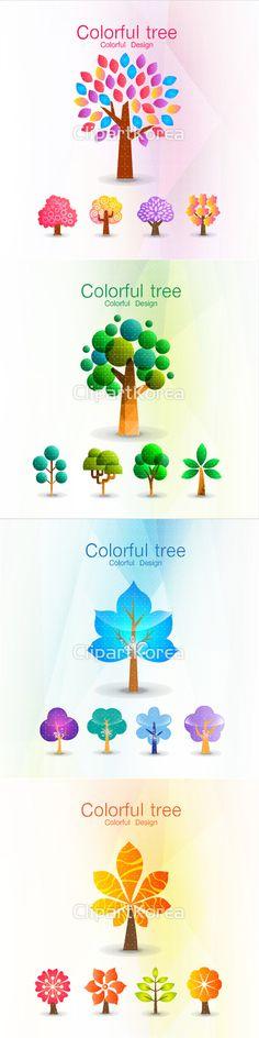 그라데이션 나무 누끼 다양함 단순 디자인소스 아이콘 일러스트 나뭇잎 단풍 무늬 컬러풀 디자인소스 모자이크 초록색 Gradation Wood Nukki Diversity Simple Design Source Icon Illustration Illust Leaves Maple Pattern Colorful Design Source Mosaic Green