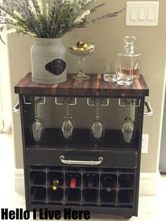 IKEA RAST Dresser Hack Becomes An Incredible Wine Cart   Truly Amazing  Completed By Hello I