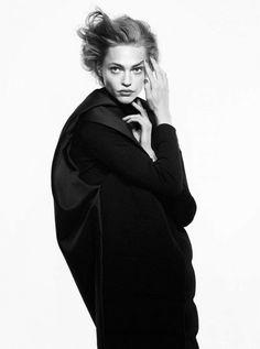 """ Sasha Pivovarova 'Rocks Red Hair', Fall Coats For Vogue Paris by David Sims """