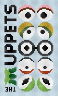 Muppets movie modern counted cross stitch pattern. £2.30, via Etsy.