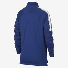 Nike Chelsea Fc Dri-Fit Squad Drill Big Kids' Long Sleeve Soccer Top - M (10-12)
