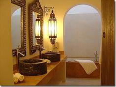 gorgeous moroccan bathroom