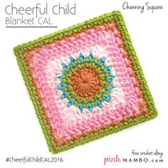 Cheerful Channing Granny Square | Make a fun granny square crochet pattern with this tutorial!