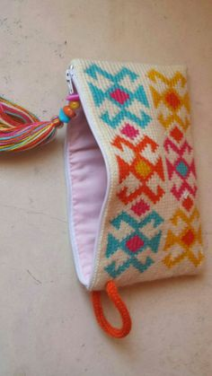 Pouch tapestry fair isle crochet