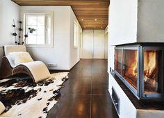 Cozy fireplace Cozy Fireplace, Interior Inspiration, Shag Rug, Animal Print Rug, Baby Room, House, Home Decor, Shaggy Rug, Decoration Home