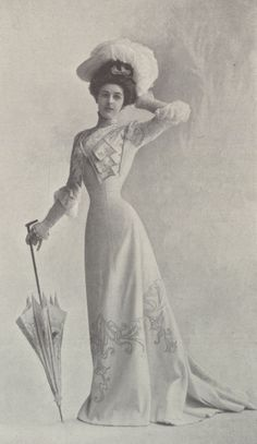 1901, Septembre - Les Modes Paris - Princess dress by Blanche Lebouvier