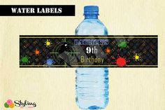 Paintball Party! This listing is for a DIGITAL PRINTABLE WATER LABELS File Only! All other items sold separately. You will not receive any