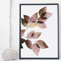 Leaf watercolor botanical wall art print poster - unframed. I am a Canadian based artist and all artwork is done by me in my studio. This is an UNFRAMED archival high quality print of my original illustration. It is printed on Moab 100% cotton archival fine art heavy paper. Prints are full bleed, no white margin or border included, image reaches the edge. Your print will be signed and dated in the back and carefully packaged with sturdy backings and sleeves. Larger prints are shipped…