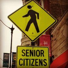 Senior Citizens #street #sign