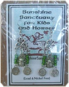 Tibetan Silver Frog & Coin  Dangle Earrings - Lucky Green–Unique Handmade in USA #Handmade #DropDangle  Please take a minute to check out these  earrings on eBay, 100% goes to support Sunshine Sanctuary for Kids & Horses. If you have any questions or would like a special order made, please don't hesitate to contact me.