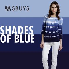 Tie and dye peasant #blouse from Shades of #Blue #Collection.... Check Now >>> http://www.sbuys.in/sbuys-tie-and-dye-peasant-blouse.html